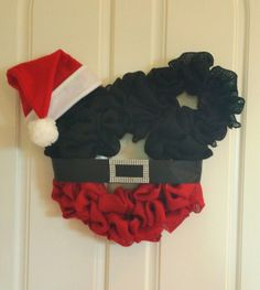 Mickey Mouse Christmas wreath made by Audrey Rose
