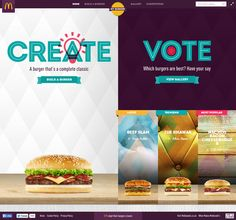 McDonald's invite you to create the burger of you choice and win the chance to see it on the menu. Slick and clean burger Configurator and gallery. Web Design Awards, Web Design Trends, Ui Ux Design, My Burger, Website Design Inspiration, Web Design Inspiration, Website Layout, Food Website, Letterhead