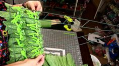 How to make a Christmas tree with Poly Burlap Mesh