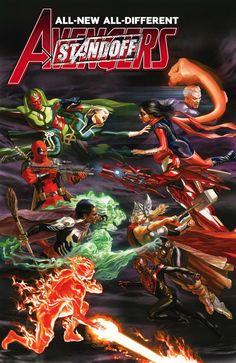 Alex Ross- Avengers 7 cover Original Comic Art - W. Black Widow Avengers, Avengers 2015, Uncanny Avengers, The Avengers, Marvel Dc Comics, Marvel Art, Marvel Heroes, Ms Marvel, Cosmic Comics