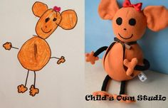 Child's Own Studio: Send in a picture of your child's drawing and they turn it into a stuffed animal