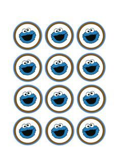 Cookie Monster Cupcake Topper printables