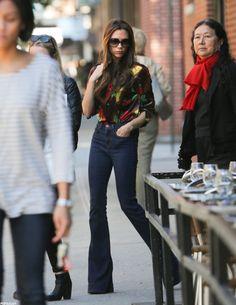 Victoria Beckham Does NYC Dressed Down in Denim