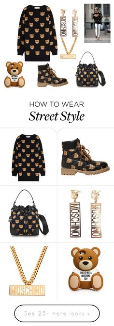 """Moschino"" by helenaluv on Polyvore featuring Moschino"