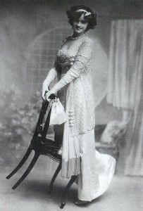 Women always wore an evening dress.