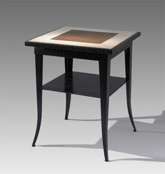 Linen End Table with Shelf by Michael McClatchy: Concrete & Steel End Table available at www.artfulhome.com