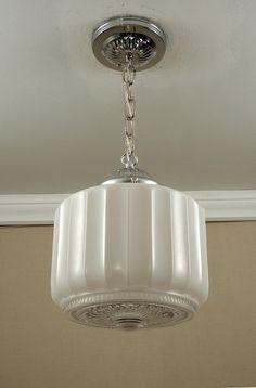 vintage antique american art deco retro glass globe u0026 chrome pendant ceiling light bathroom