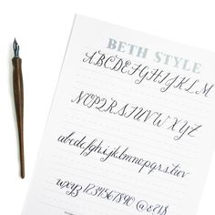 free calligraphy worksheet, brought to you by The Postman's Knock! Simply print and practice … you'll be a pro in no time.