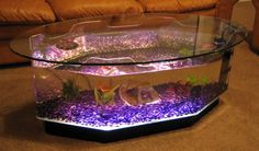 New Coffee Table Aquarium Long Octagon Fish Tank Kids Or Family Room Furniture