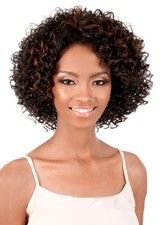 Bouffant Medium-length Curly Human Hair Wig