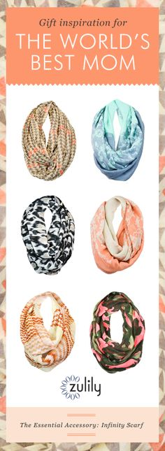 A perfect Mother's Day gift. The essential accessory: infinity scarf!
