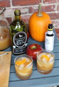 Apple Cider & Gin Cocktail   Something To Snack On