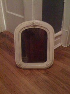 Dollhouse Miniature Furniture - Tutorials | 1 inch minis: 1 inch scale antique mirror