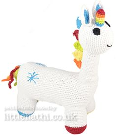 Little Hathi Unicorn http://www.greatauntadmin.co.uk/articles/gifts_and_accessories_details.asp?id=94#