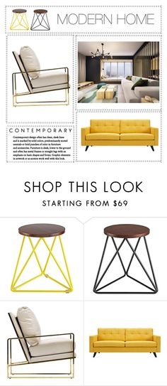 """""""Modern Home - Livingroom Decor"""" by designed-4-life ❤ liked on Polyvore featuring interior, interiors, interior design, home, home decor, interior decorating, Dot & Bo and modern"""