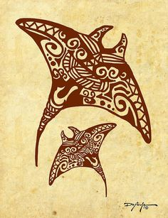 Hahalua Manta Rays - William DePaula #polynesiantattoosanimal