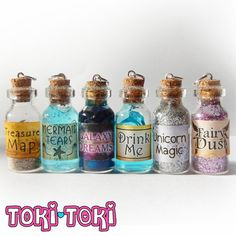 Glass Bottle Necklace Potion Bottle Miniature by MadeByTokiToki