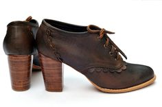 Handmade Leather  lace up boots :: ELF:: via Etsy.