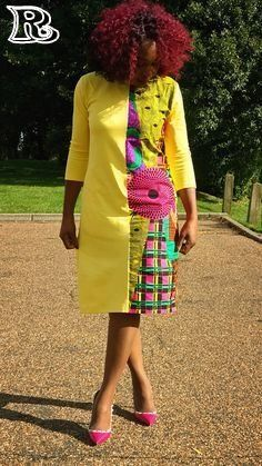 Items similar to Shift dress mixed with African Print Ankara Pencil in Sleeves on Etsy African Fashion Designers, Latest African Fashion Dresses, African Print Dresses, African Print Fashion, African Dress, African Prints, Ankara Fashion, Africa Fashion, African Attire