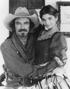 Tom Selleck and Laura San Giacomo. Quigley Down Under (1990). Quigley and  Crazy Cora