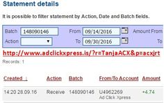 Here is my #97 Withdrawal Proof from Ad Click Xpress. I get paid daily and I can withdraw daily. Online income is possible with ACX, who is definitely paying - no scam here. I WORK FROM HOME less than 10 minutes and I manage to cover my LOW SALARY INCOME. If you are a PASSIVE INCOME SEEKER, then AdClickXpress (Ad Click Xpress) is the best ONLINE OPPORTUNITY for you. Join for FREE and get 20$ + 10$ + 5$ Monsoon, Ad and Media value packs from ACX.