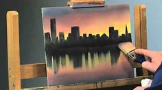 (6) acrylic paintings of cities - YouTube
