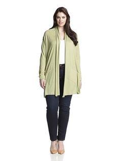 74% OFF Cotton Addiction Plus Women's Open Cardigan (Pistachio)