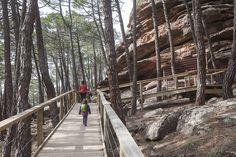 Excursión con niños en Albarracín por las pinturas rupestres del arrastradero en el Paraje Protegido de los Pinares de Rodeno. Teruel Secret Places, Wonderful Places, Trekking, Places To Visit, House Styles, World, Sierra, Travel, Instagram