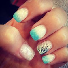 My prom acrylic nails :) #prom