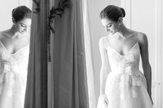 Secluded Garden Estate Wedding in New York Photos by Jessica Haley | Monique L'Huillier Wedding Dress