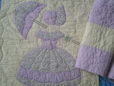 Vintage-Patchwork-Quilt-Block-And-Quilted-Panel