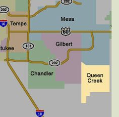 Queen Creek Arizona Location Map