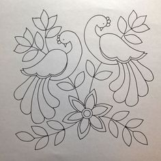 Awesome Most Popular Embroidery Patterns Ideas. Most Popular Embroidery Patterns Ideas. Mexican Embroidery, Crewel Embroidery, Hand Embroidery Patterns, Applique Patterns, Applique Quilts, Beaded Embroidery, Quilt Patterns, Machine Embroidery, Bird Applique