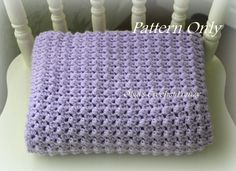 Crochet Baby Blanket modello, facile da fare, per bambine e ragazzi Baby, Instant PDF Download