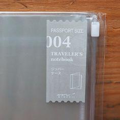 Traveler Refill 004 - Plastic Zipper Pocket - Passport Size from Bookbinders Online