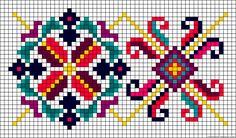 Medallion floral perler bead pattern