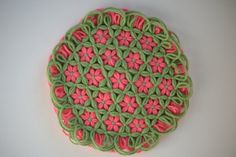 Potholder Hot Pad Flower pot holder Trivet by LuminousDesignsInc