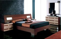 contemporary bedroom set with king bed