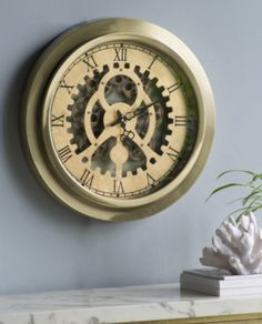 Gold Cog Style Wall Clock – Allissias Attic & Vintage French Style