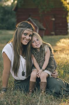 Boho mommy & daughter