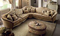 Tiziano Collection Living Room, Corner Sofa www.arredoclassic.com/living-room/corner-sofas-tiziano