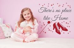 Ruby Slippers Decal Oz Wall Decal Wizard Of Oz Decal Dorothy Decal There's No Place Like Home Oz Wall Decor Ocean Nursery, Nautical Nursery, Nautical Baby, Vinyl Decals, Wall Decals, Baby Room Decals, French Lilac, Bubble Wall, Ruby Slippers