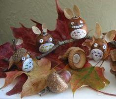 Totoro autumn craft