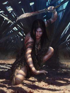 'Huntress' by Yefim Kligerman