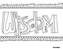 Show Me More Word Of Wisdom Colouring Pages