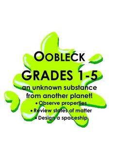 Oobleck for Elementary School grade Observation, data & spaceship design Elementary Science, Teaching Science, Elementary Schools, Dr Suess Quotes, Bartholomew And The Oobleck, Grade 1, Third Grade, States Of Matter, Spaceship Design
