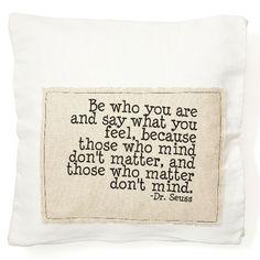 Dr Seuss quote pillow