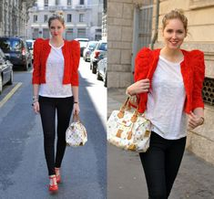 A red jacket made of roses (by Chiara Ferragni) http://lookbook.nu/look/619207-A-red-jacket-made-of-roses