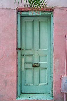 Quaint Little Door In The Quarter Photograph