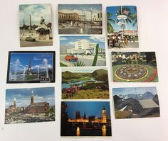 Lot of 10  Vintage Chrome Postcards  '59-60's, 70's  and  other.  | eBay